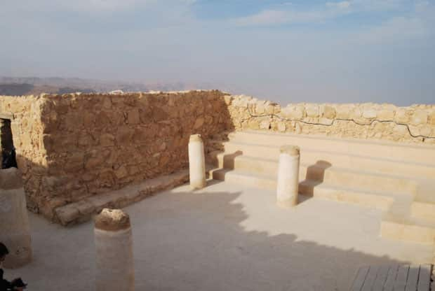 The Synagogue in Masada בית הכנסת במצדה