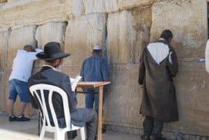 the Kotel wailing wall