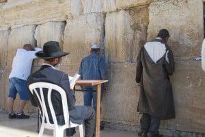 the Kotel wailing wall