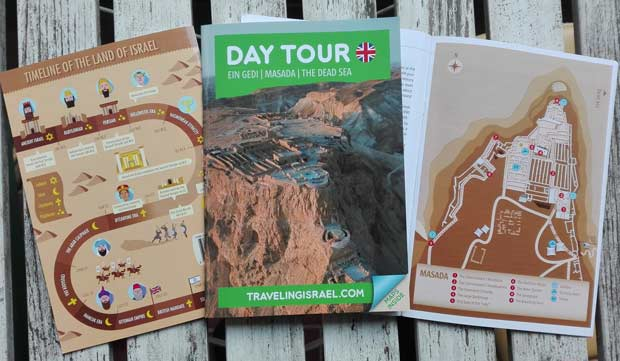 Judaean Desert travel guide booklet