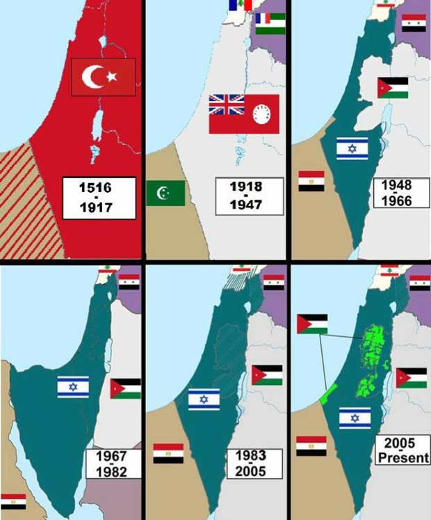 true map Land of Israel