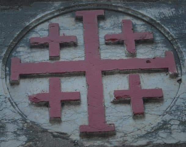 The Jerusalem Cross (or Crusaders' Cross)