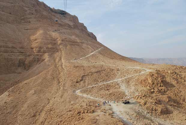 Masada - snake path and cable car