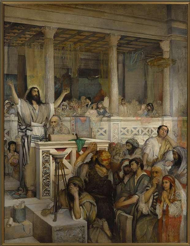 מאוריצי גוטליב – 'ישו מטיף בכפר נחום'
