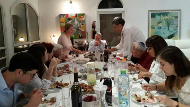 The Seder meal.