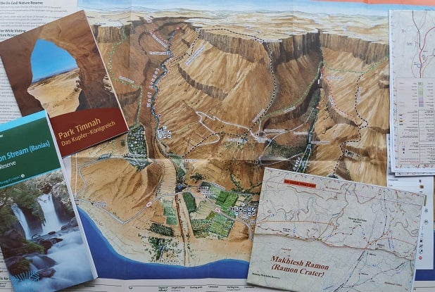 Hiking maps Israel